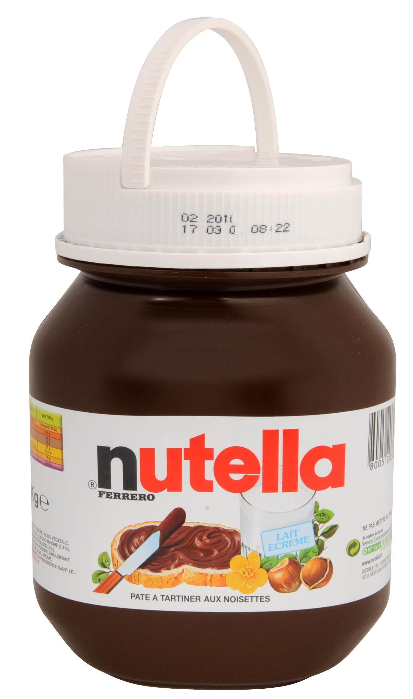 nutella hazelnootpasta 5kg ferrero online kopen. Black Bedroom Furniture Sets. Home Design Ideas