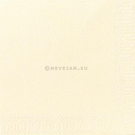 Servet duni 3laag buttermilk 24x24cm 250st