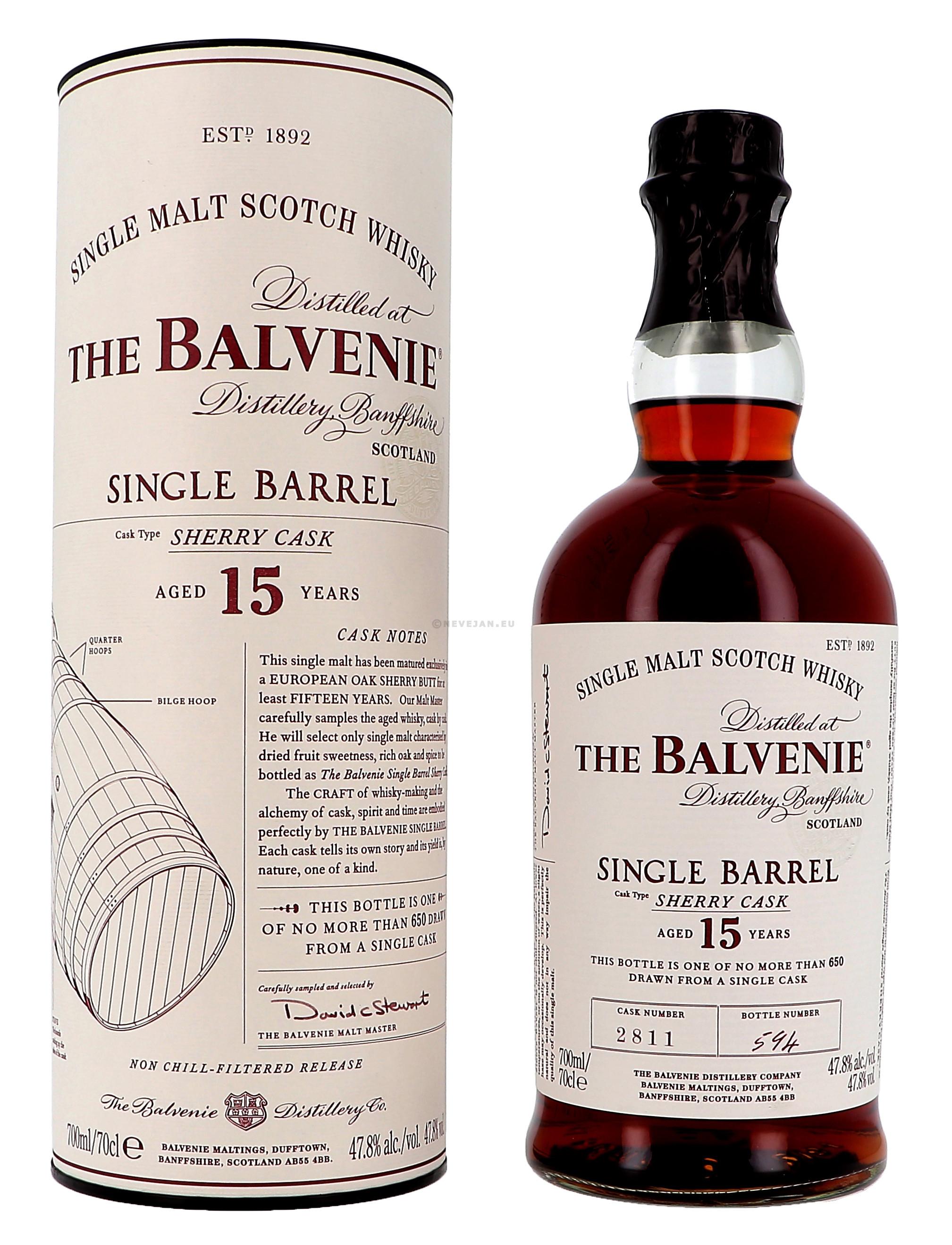 The Balvenie Single Barrel 15 Years 70cl 47.8% Speyside Single Malt Scotch Whisky (Whisky)