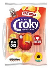 Croky Chips regular Zout 20x45gr (Koek - snoep - chips - nootjes)