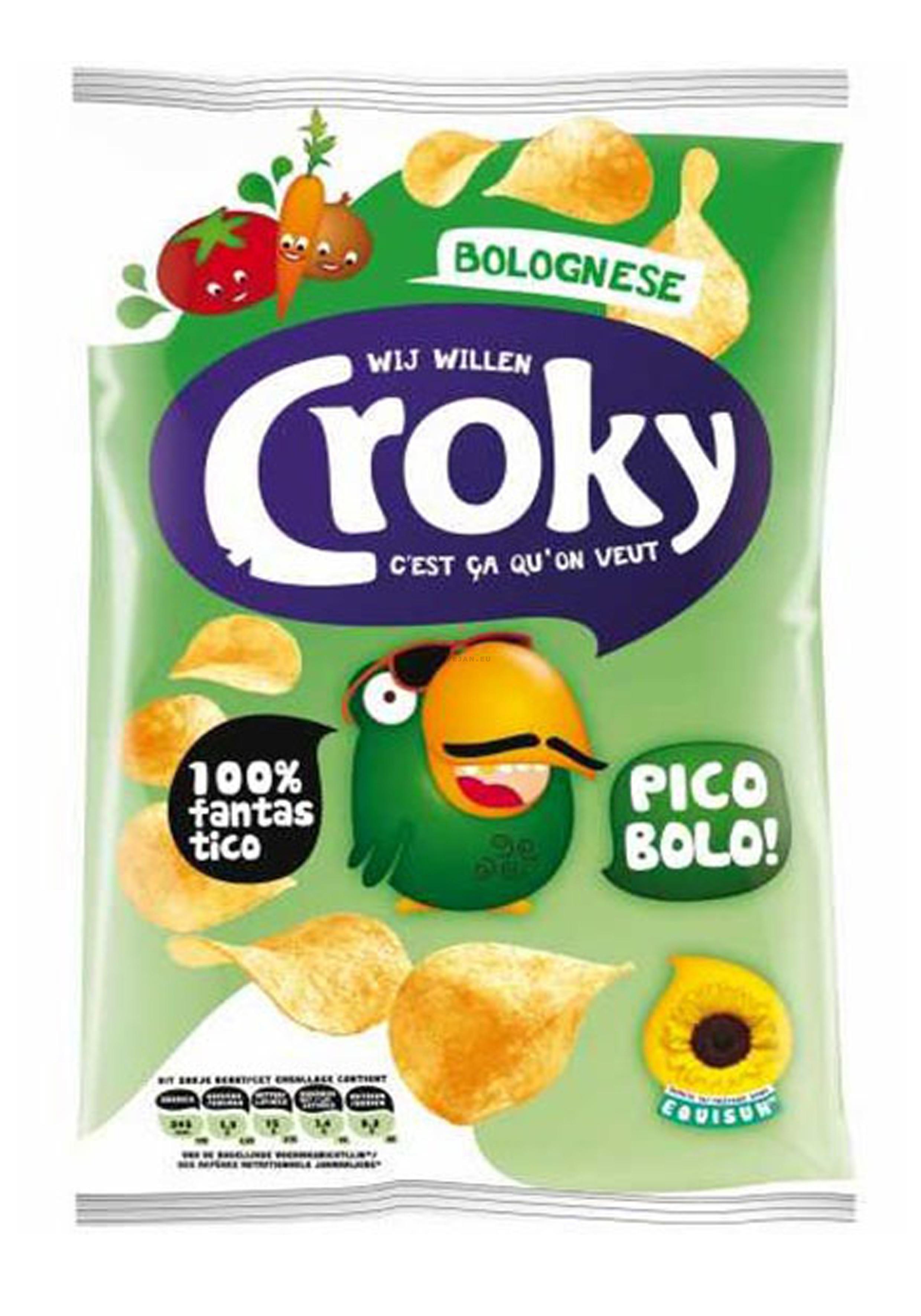 Croky Chips regular Bolognese 20x45gr (Koek - snoep - chips - nootjes)