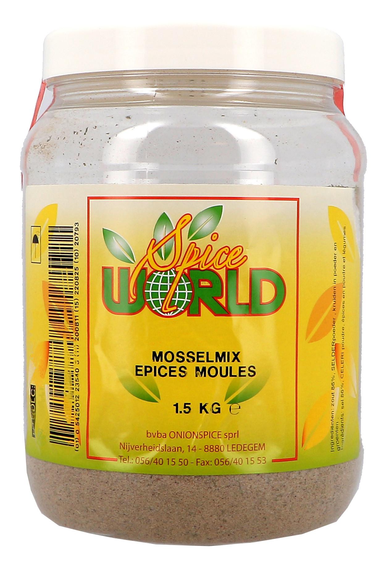 Mosselkruidmix poeder 1.5kg 1.5LP Spice World (Isfi & Verstegen)