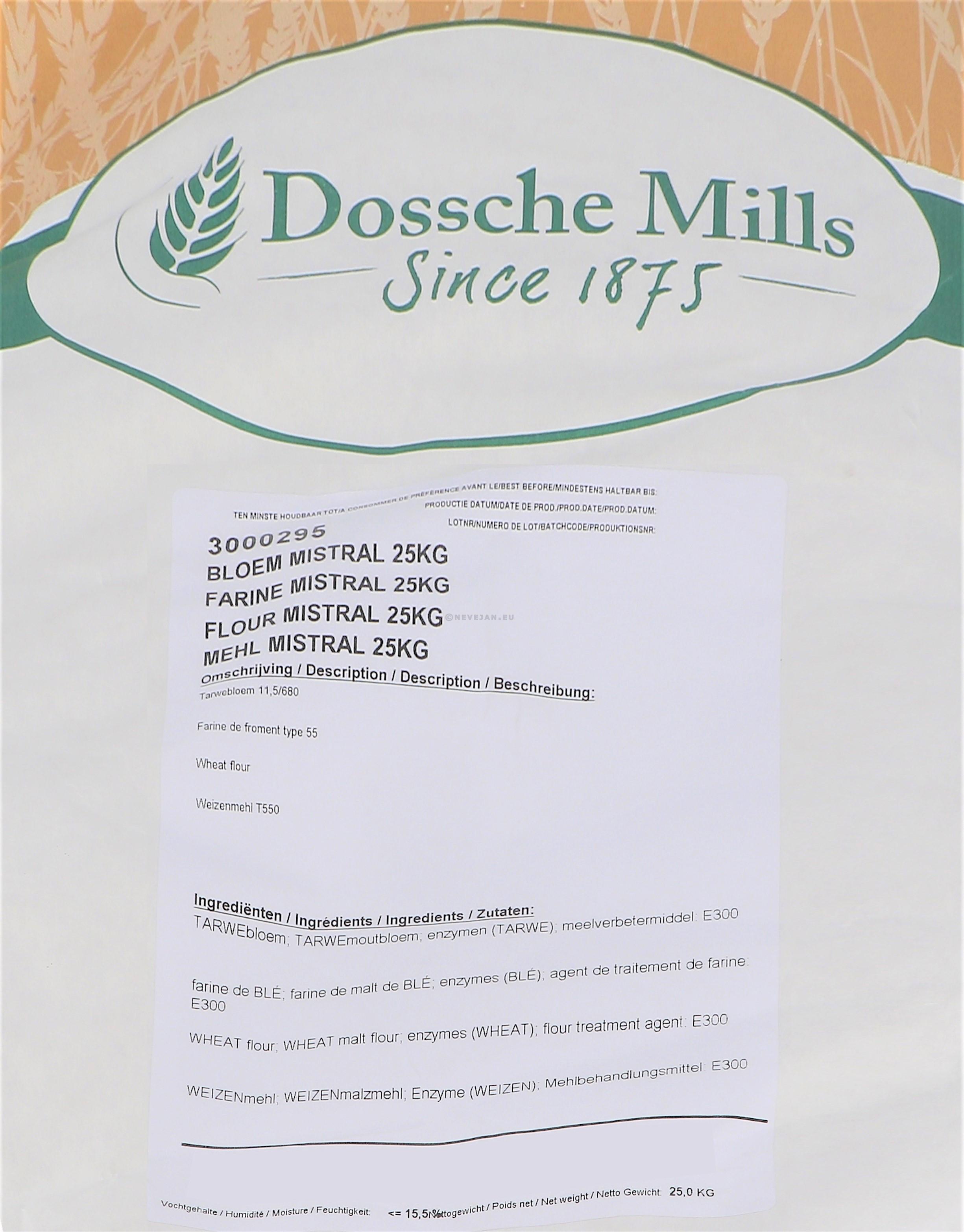 Dossche Mills Bloem Mistral 25kg zak (Default)