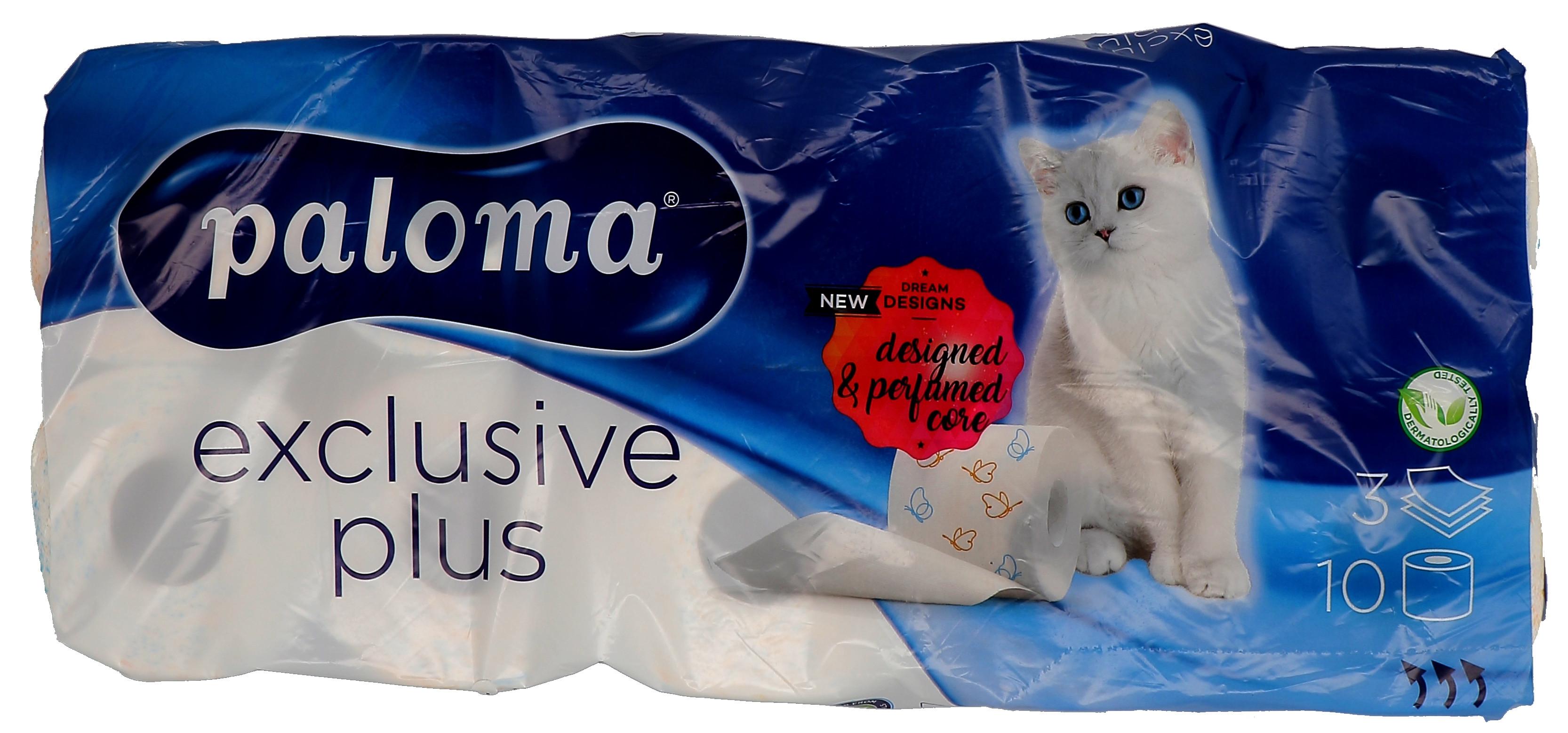 Paloma Toiletpapier 3-laags 9x10rollen Exclusive Plus (Default)