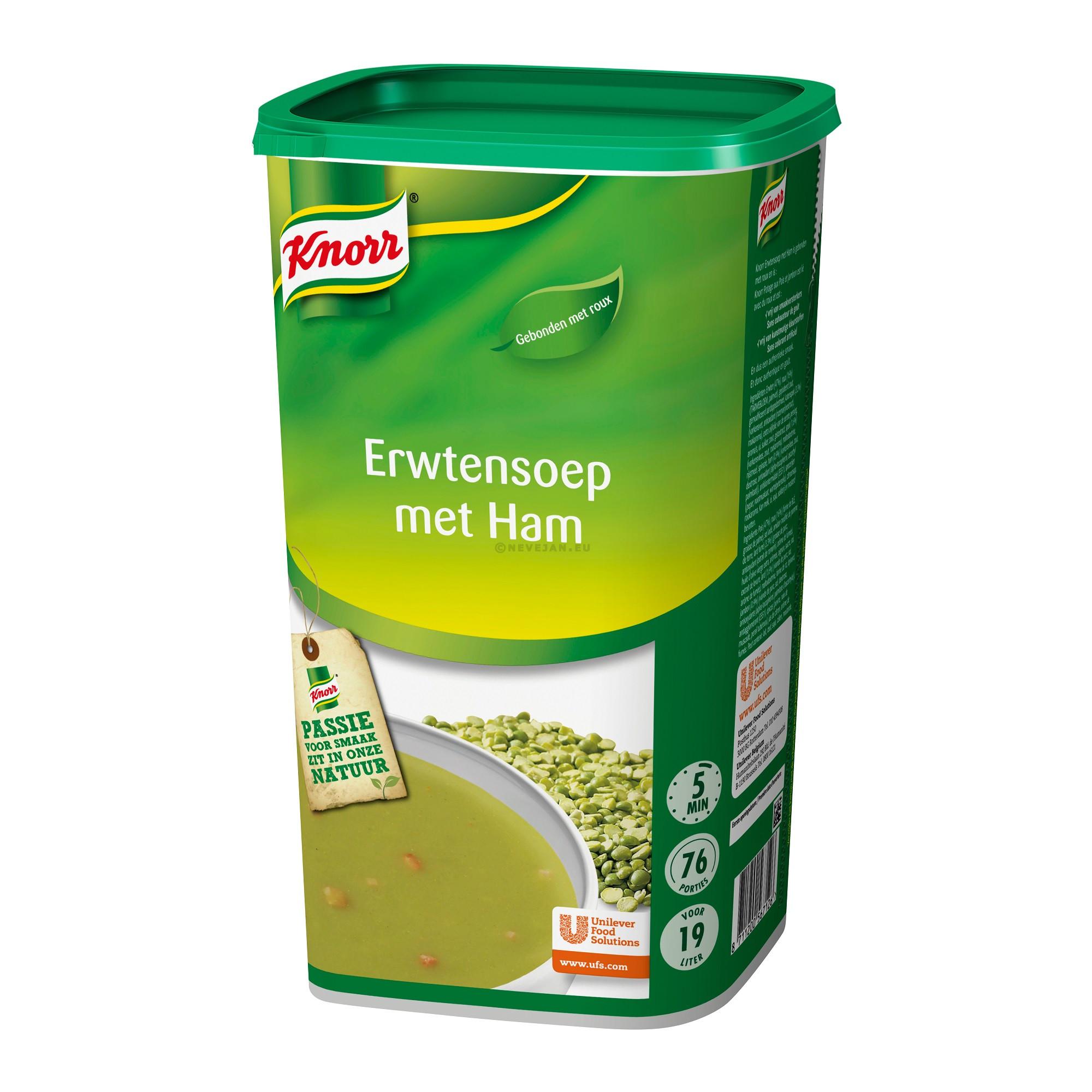 Knorr erwtensoep met ham 1.28kg dagsoep