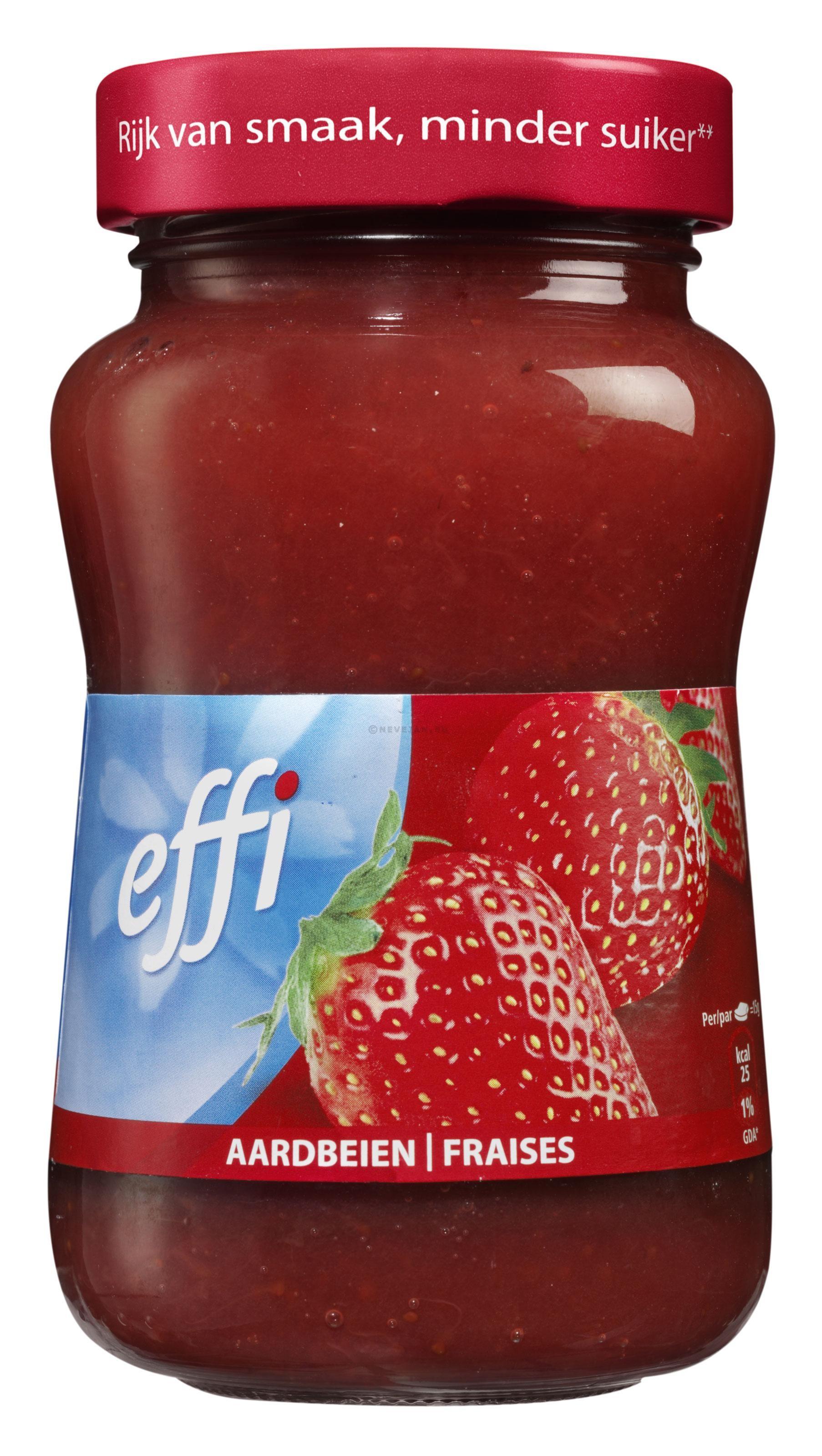 Aardbeien confituur 330gr effi