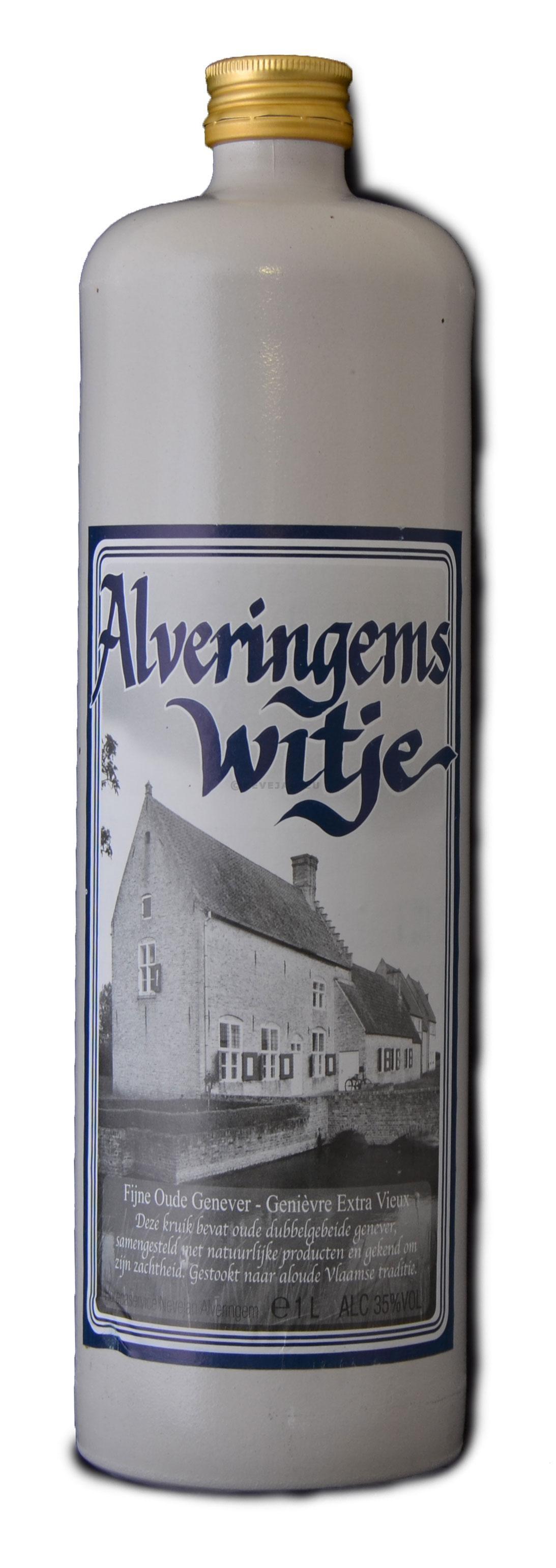 Jenever Alveringems Witje 1L 35% stenen kruik