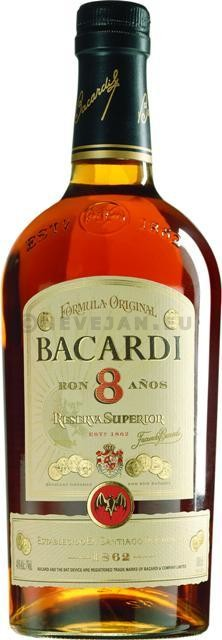 Rum Bacardi 8 Anos 70cl 40%
