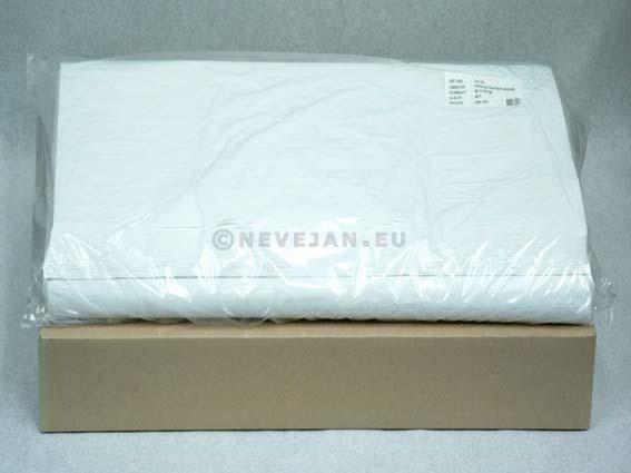 Damast Tafelpapier wit 70x110cm 250st (60gr)
