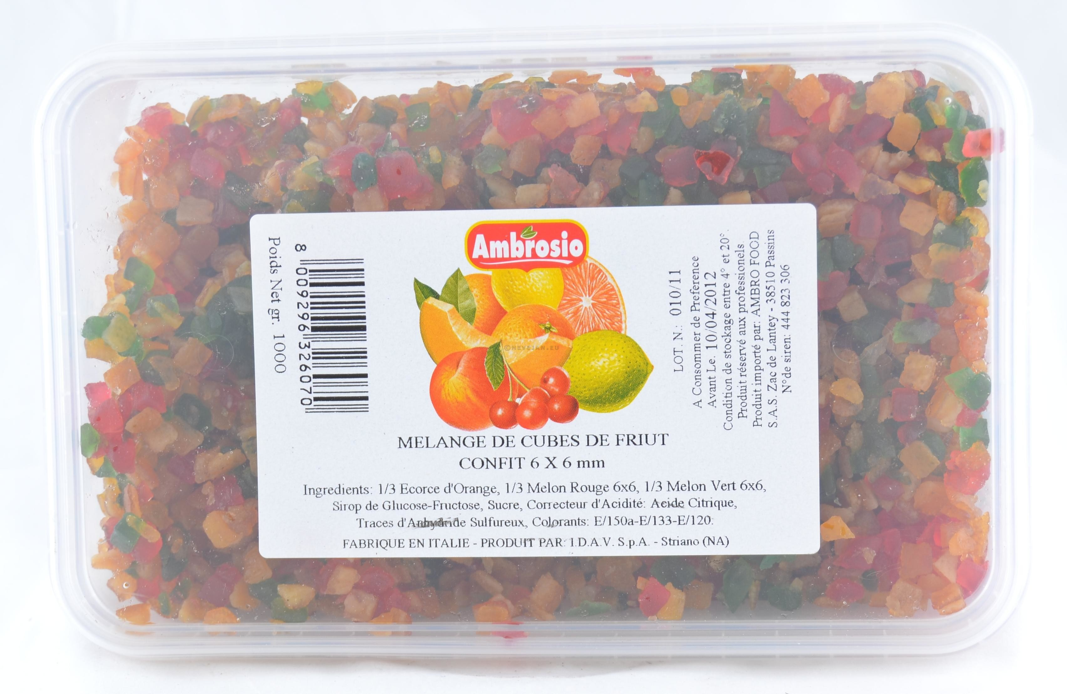 Fruitmengeling gehakt & gekonfijt 1kg Ambrosio