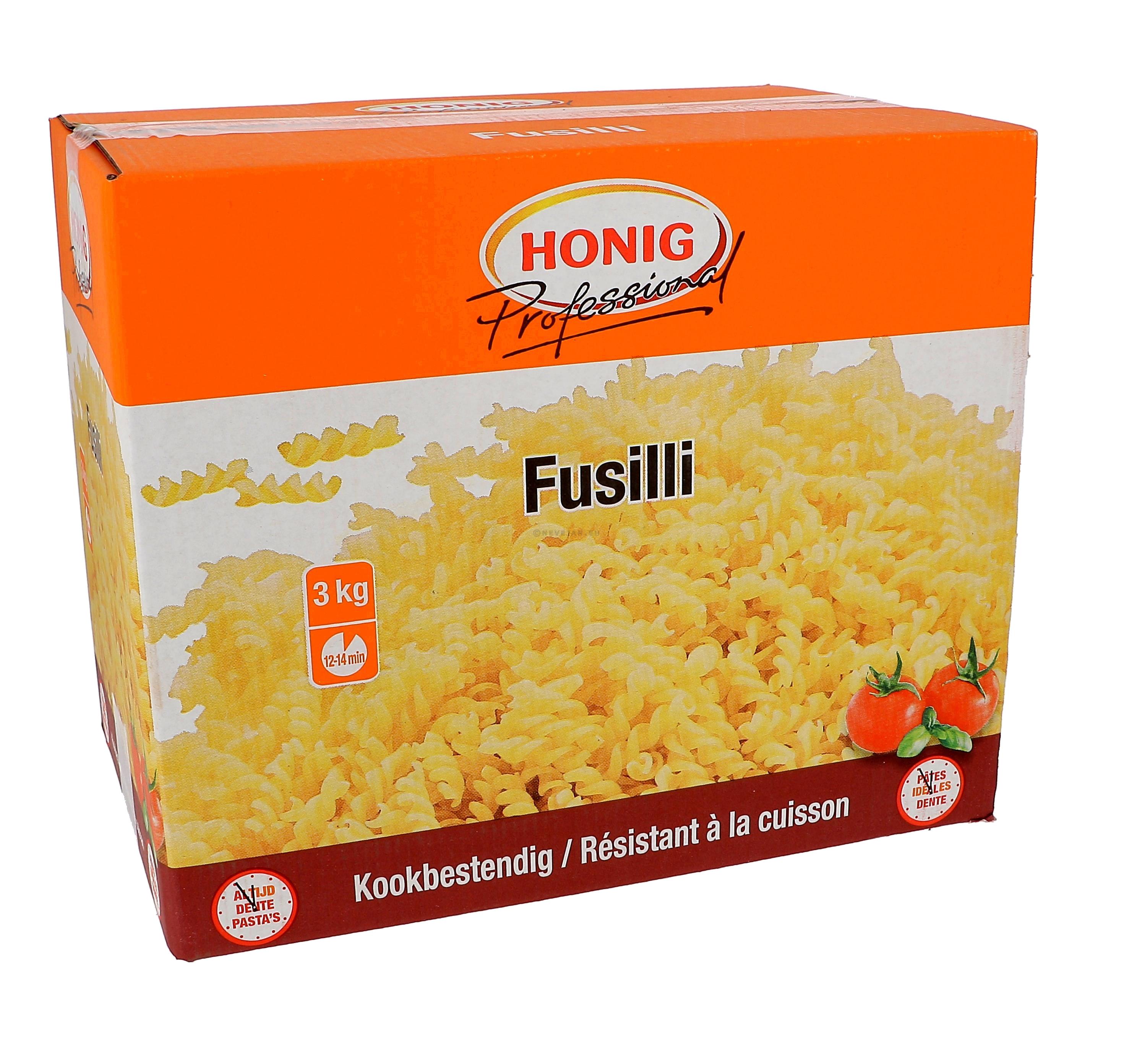 Honig fusilli pasta naturel 3kg Professional kookbestendig