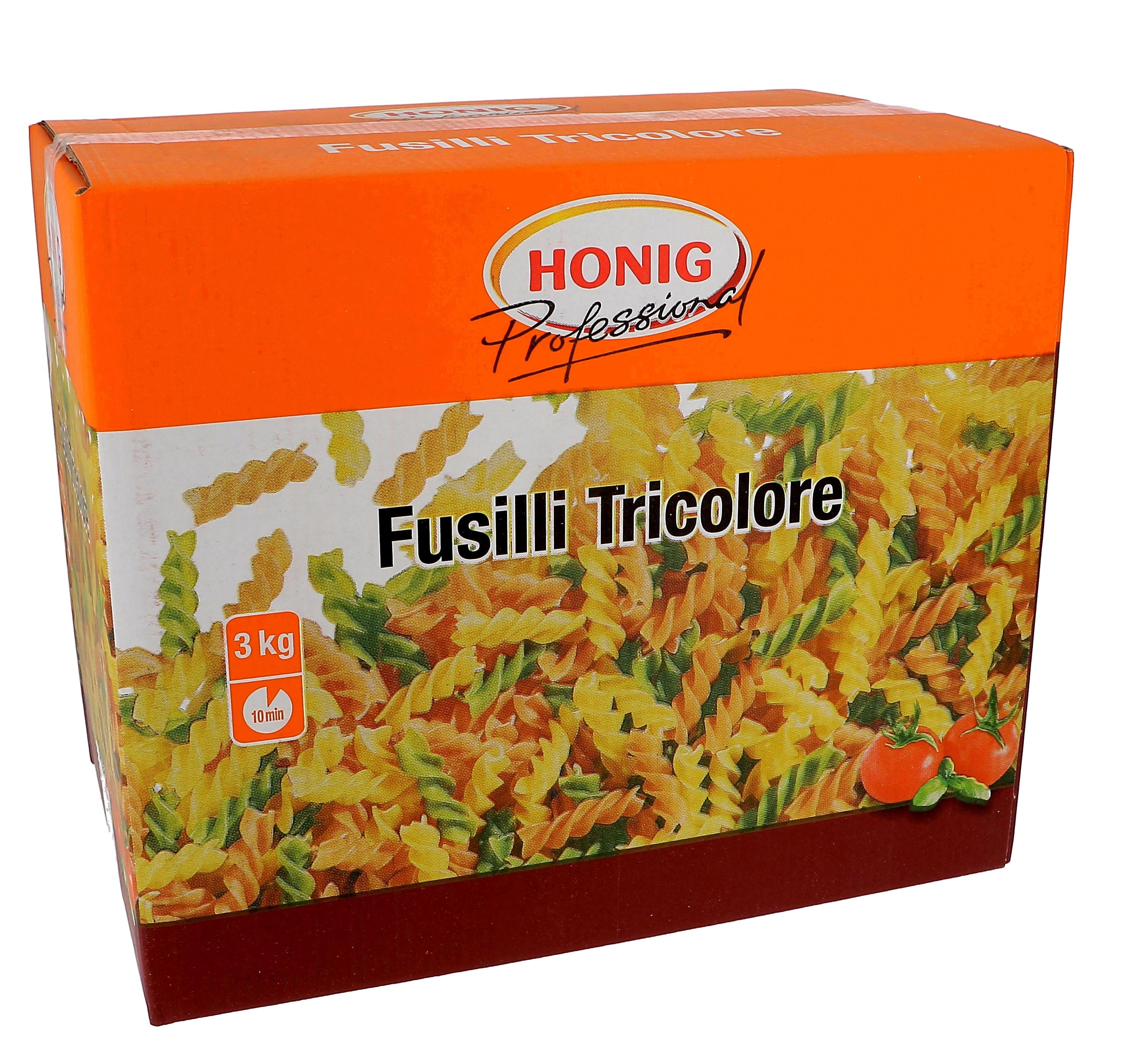 Honig tricolore fusilli 3kg Professional
