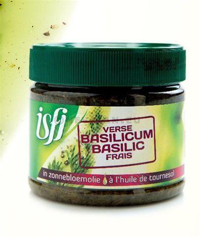 Isfi basilicum in olie 350gr bokaal