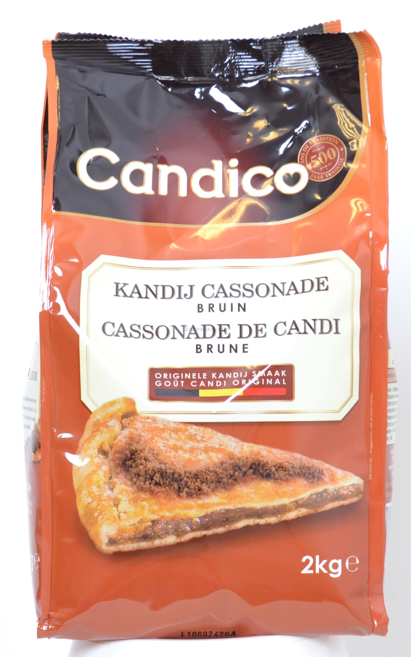 Kandij suiker cassonade bruin 2kg Candico