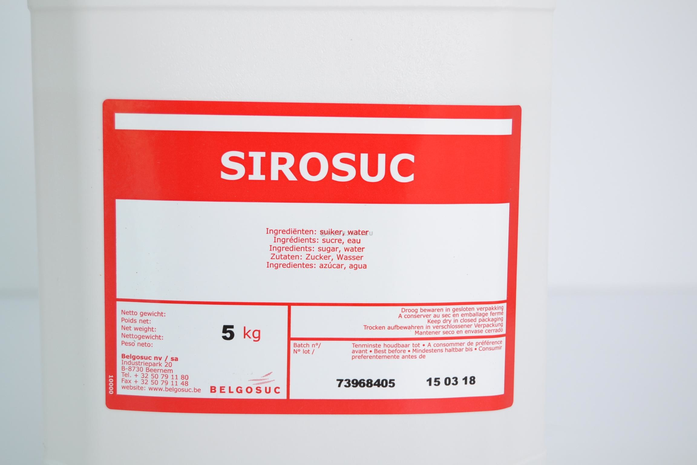 Sirosuc vloeibare suiker 5L