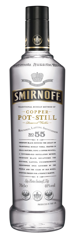 Vodka Smirnoff Black Nº55 1L 40% Copper Pot Still