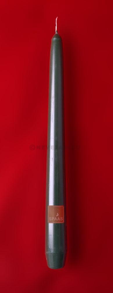Kaarsen Spaas donkergroen 25cm 100st Festilux