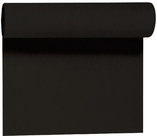 Tafellopers Tete a Tete Dunicel zwart 0.4mx24m 1st Duni