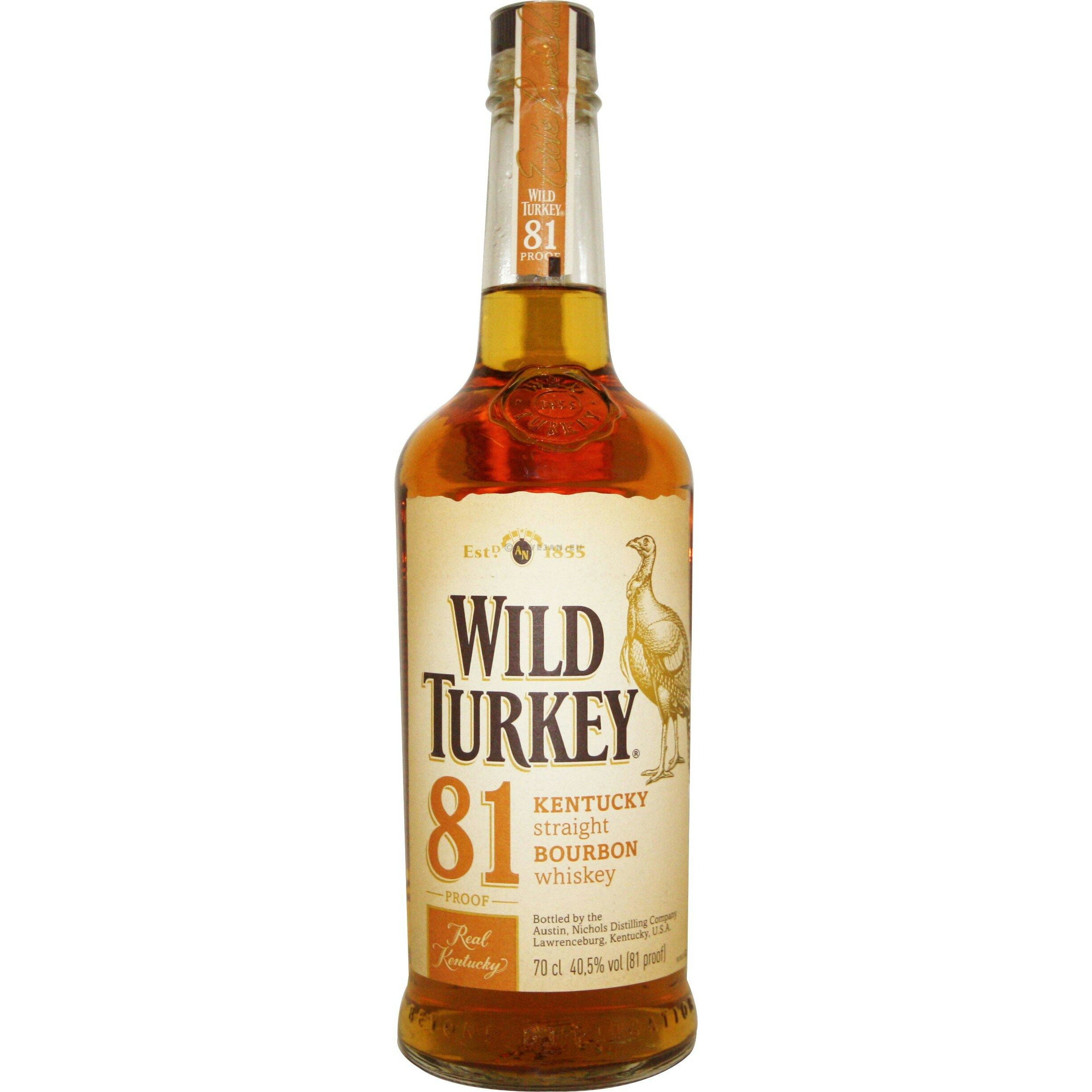 Wild Turkey 81 Proof 70cl 40.5% Kentucky Straight Bourbon Whiskey
