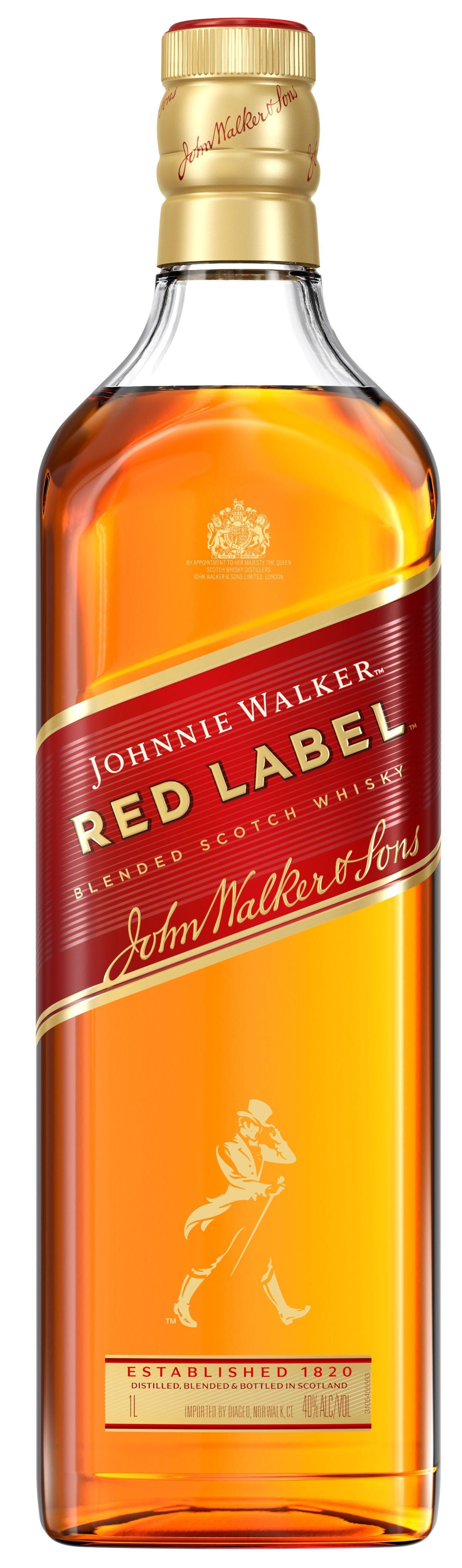 Johnnie walker red label 1l 40% scotch whisky