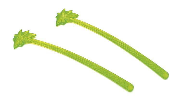 Roerstaaf Palmboom 15cm groen Fluo 100st 12018 Sier Disposables