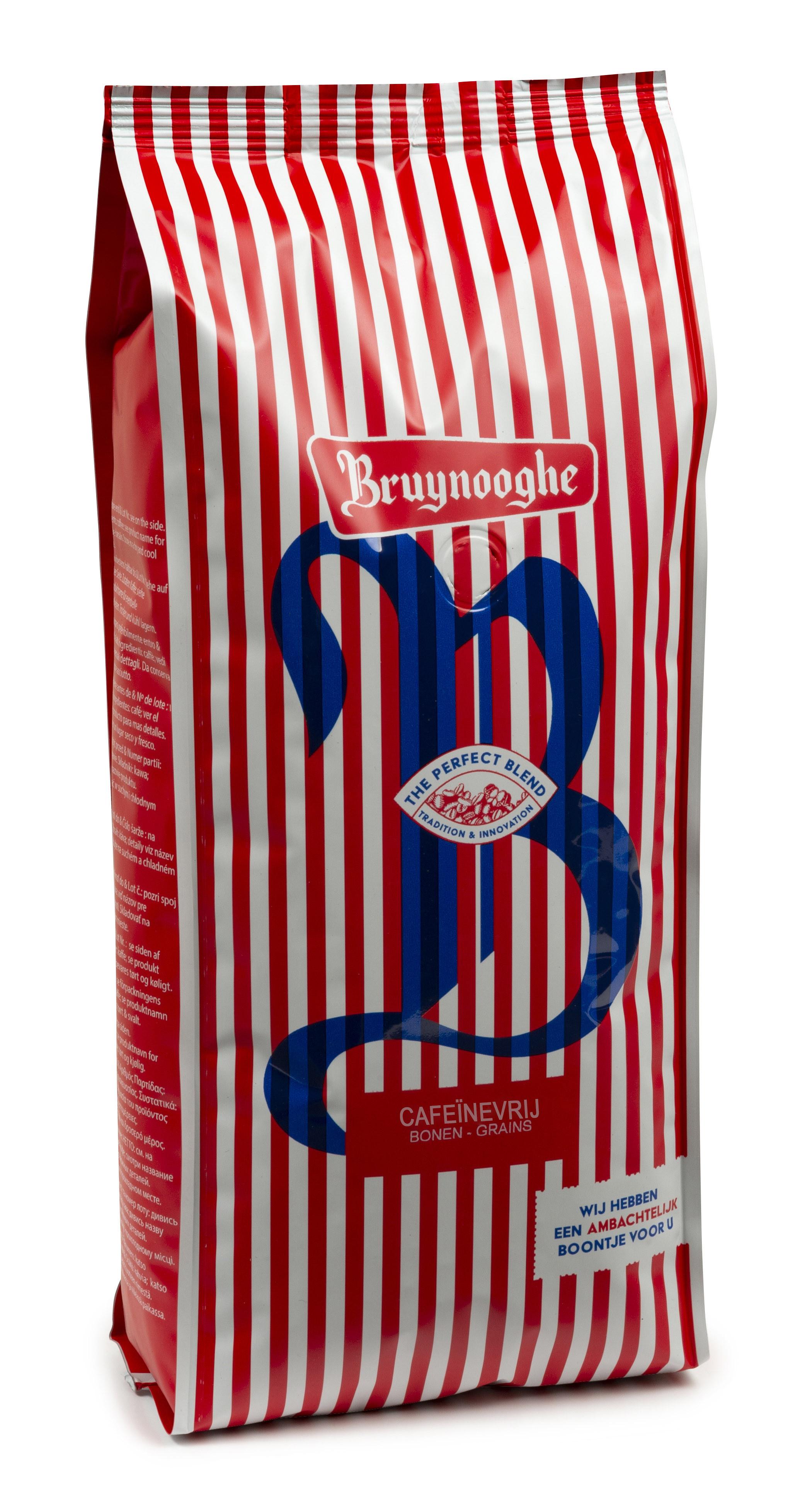 Koffie Bruynooghe Decafiné bonen 1kg (Koffie)