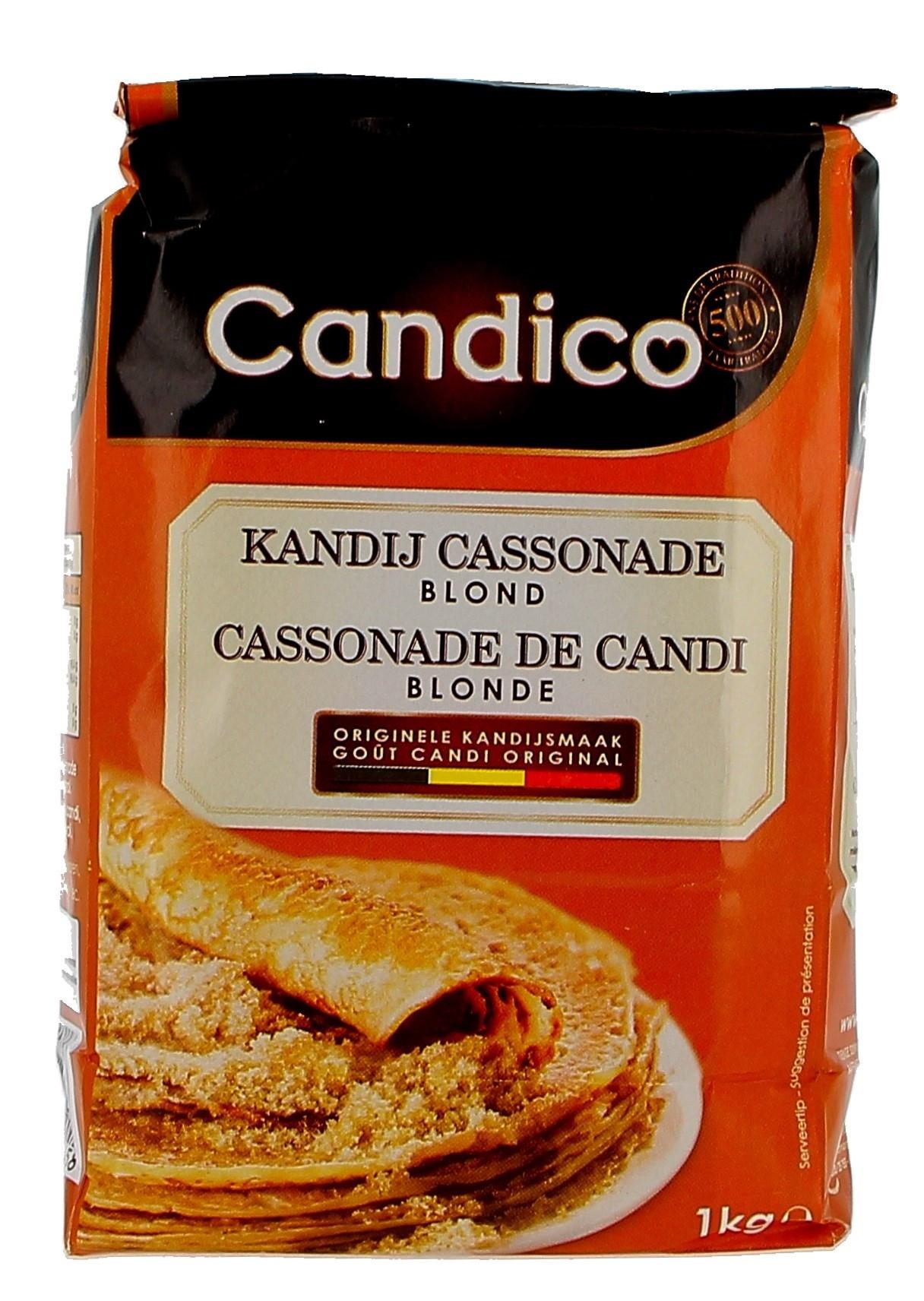 Kandij suiker cassonade blond 1kg Candico (Suiker)