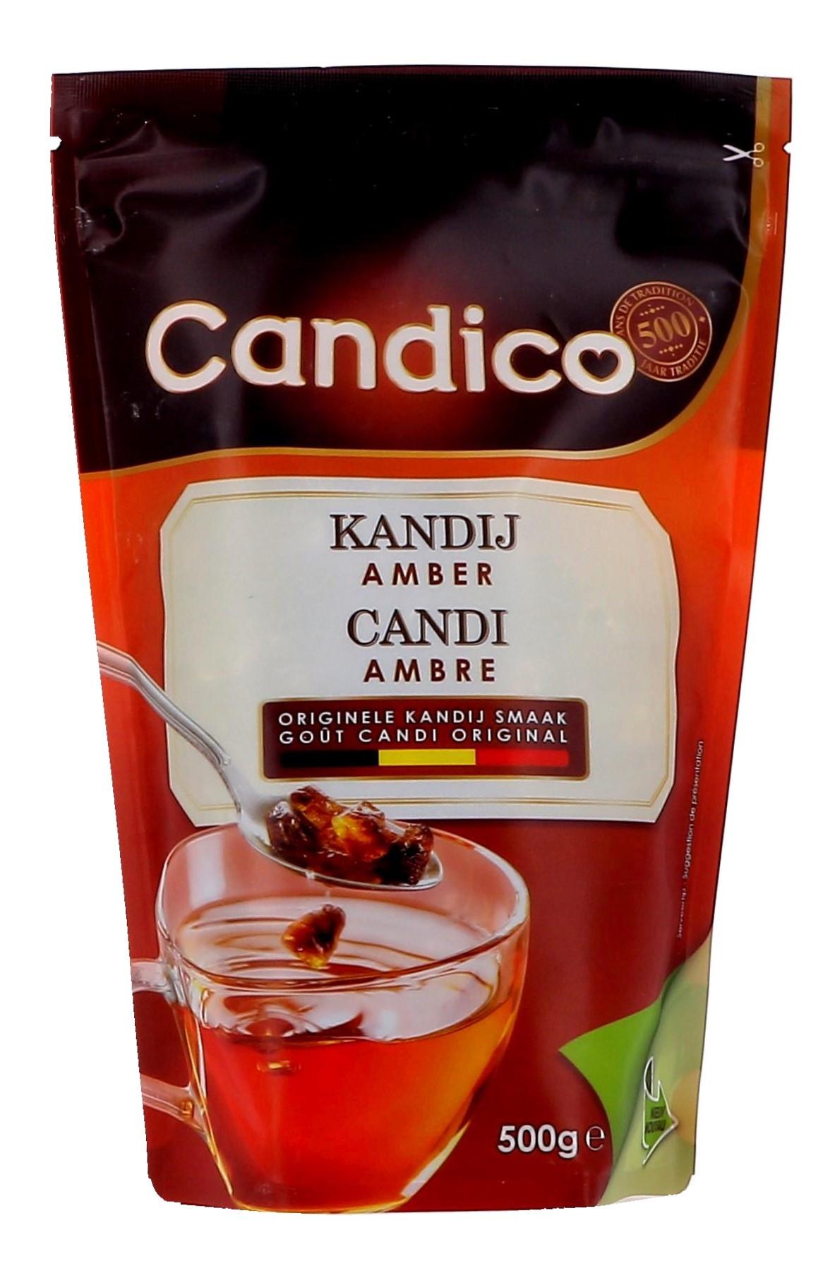 Kandijsuiker Amber 500gr Candico (Suiker)
