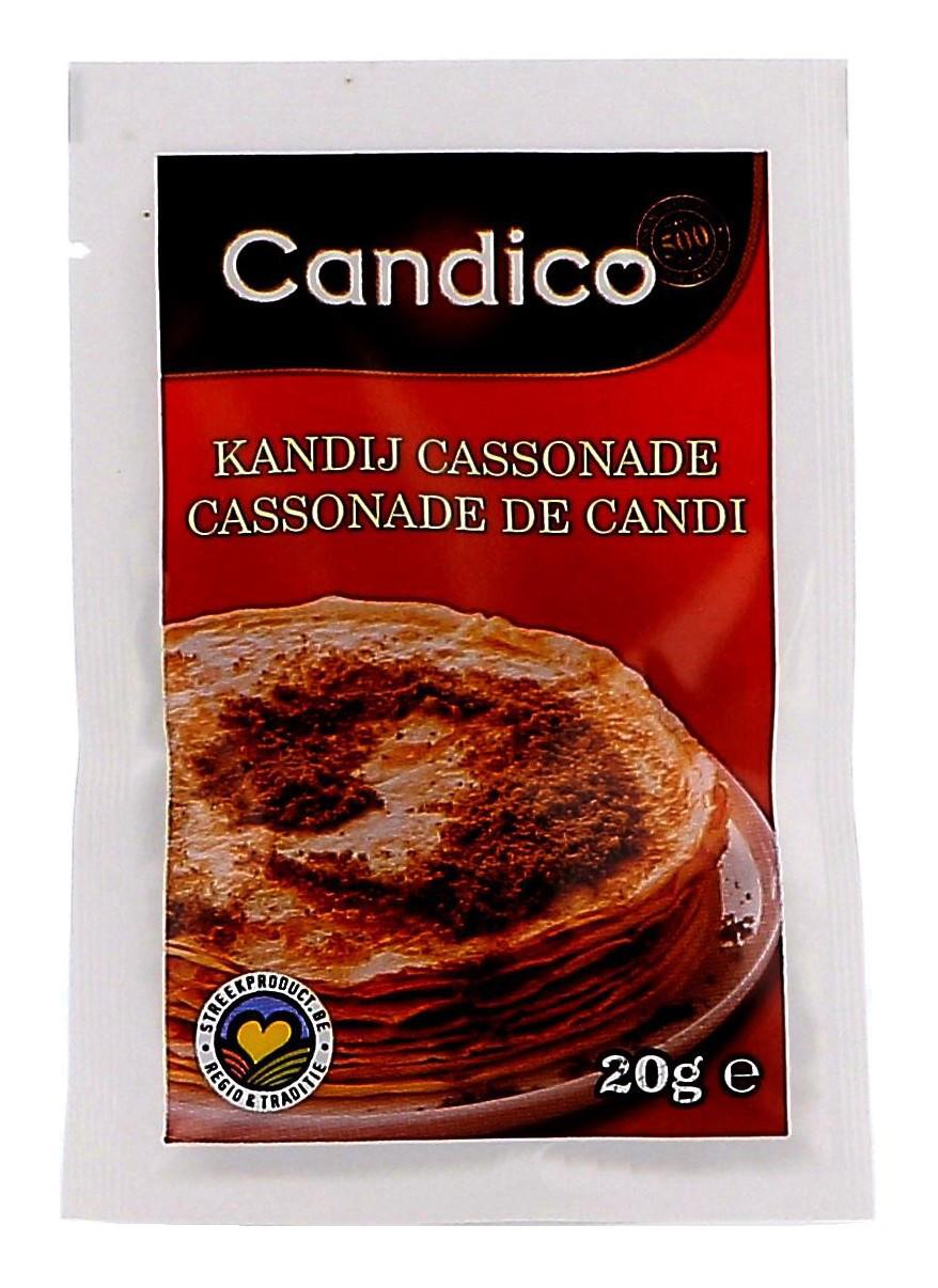 Candico Kandijcassonade poeder bruin porties 100x20gr zakjes