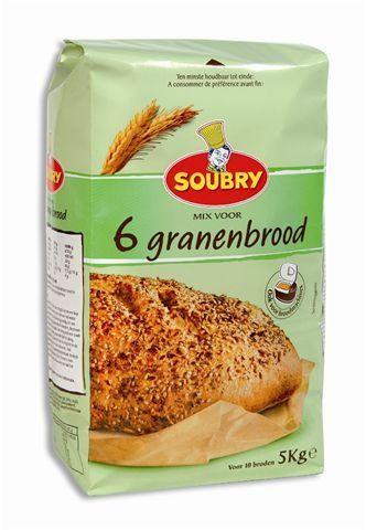 6 granen bloem voor brood 2x5kg soubry
