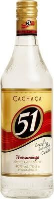 Cachaca 51 1L 40% basis voor Caipirinha
