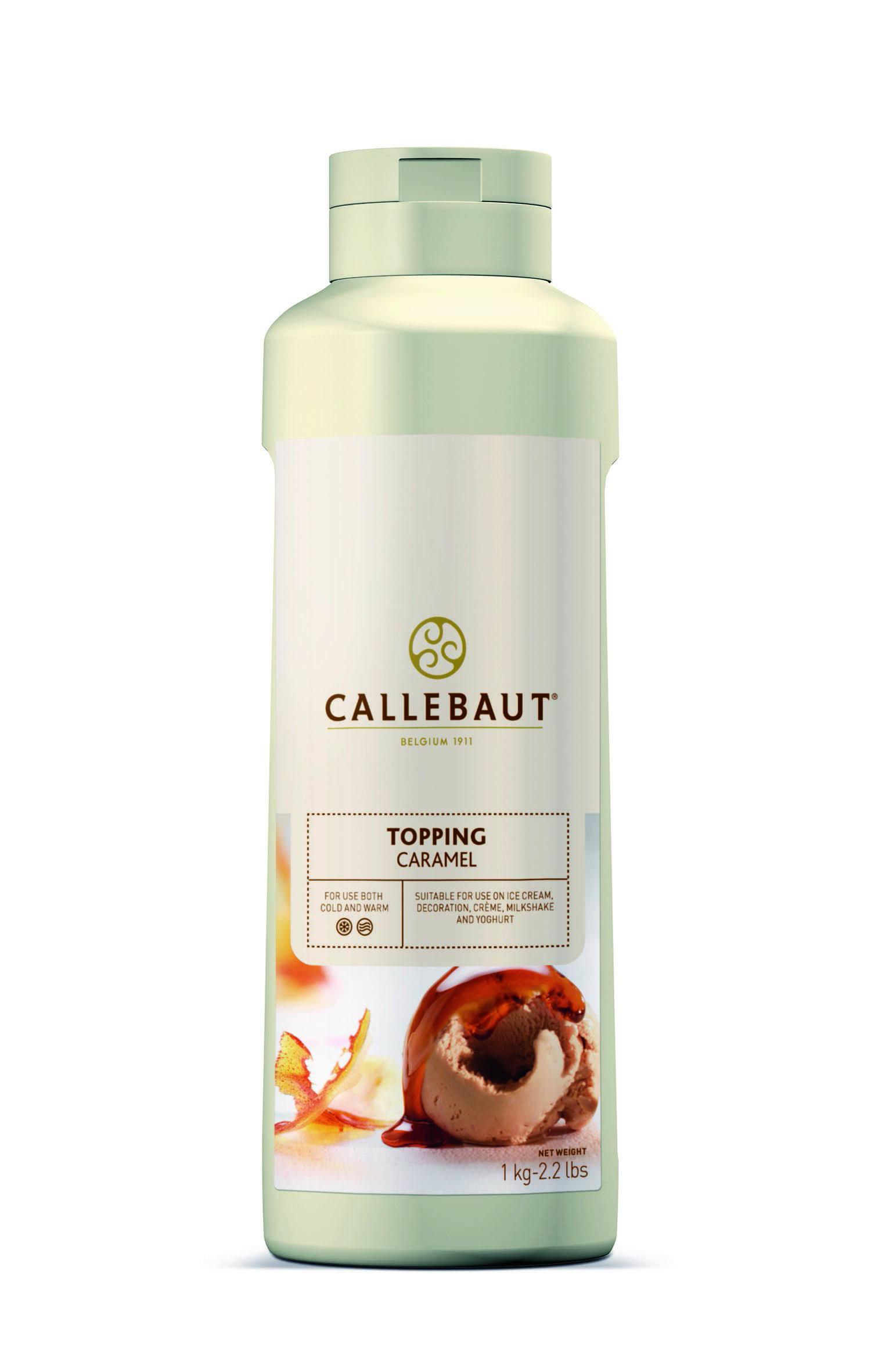 Topping Karamel 1L Callebaut knijpfles