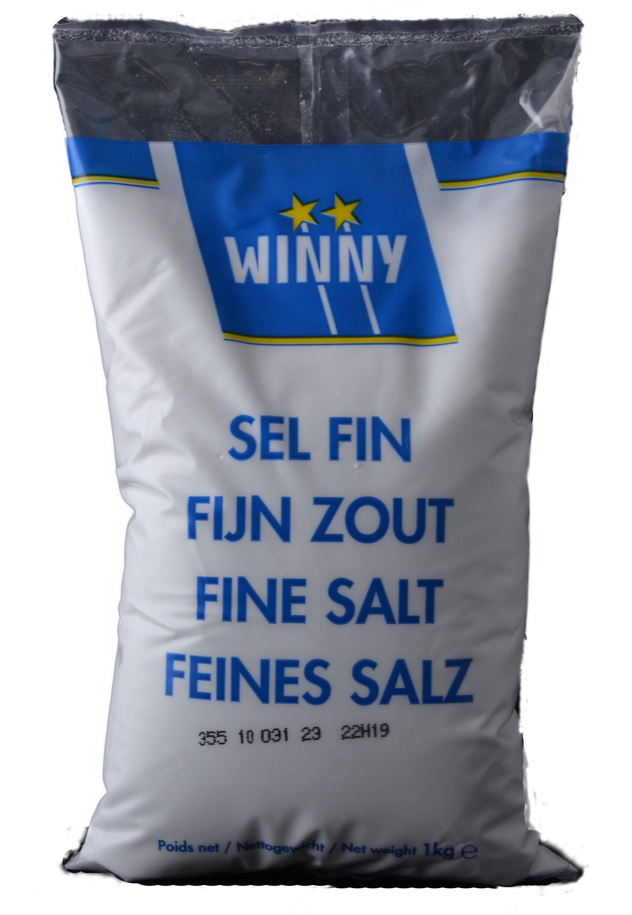 Winny fijn zout 1kg