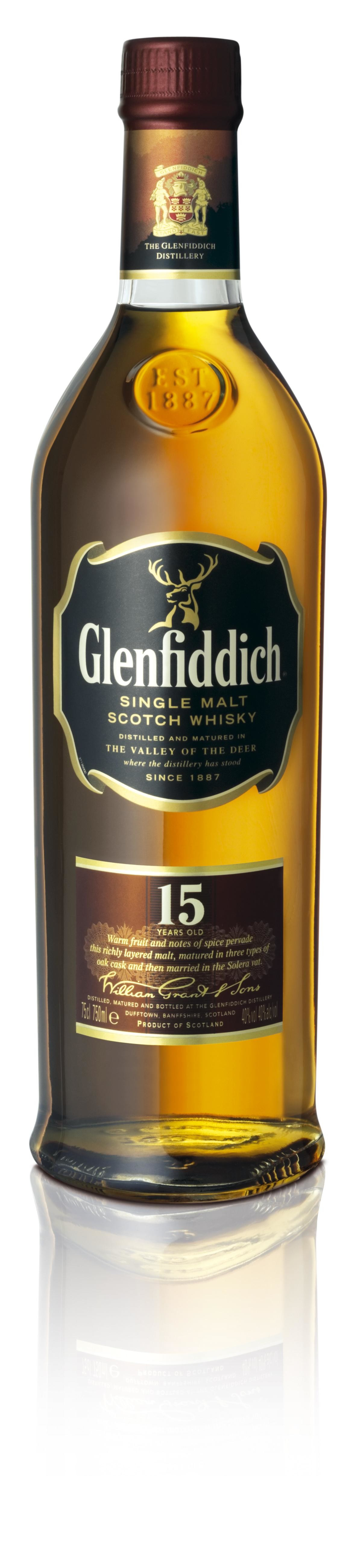 Glenfiddich 15Year 70cl 40% Speyside Single Malt Scotch Whisky