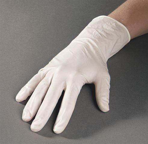Latex handschoenen wit medium 100st