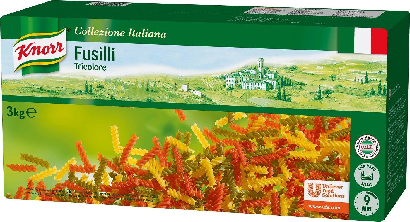 Knorr fusilli tricolore 3kg collezione italiana