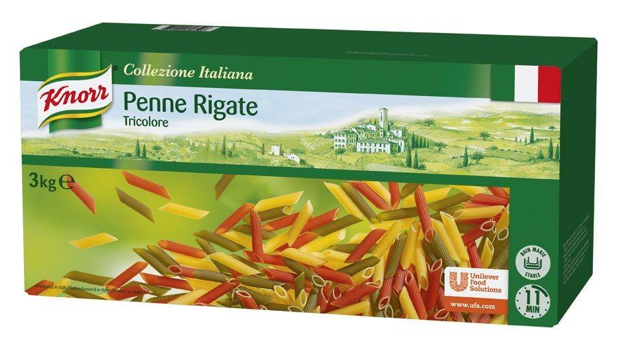 Knorr penne tricolore 3kg collezione italiana