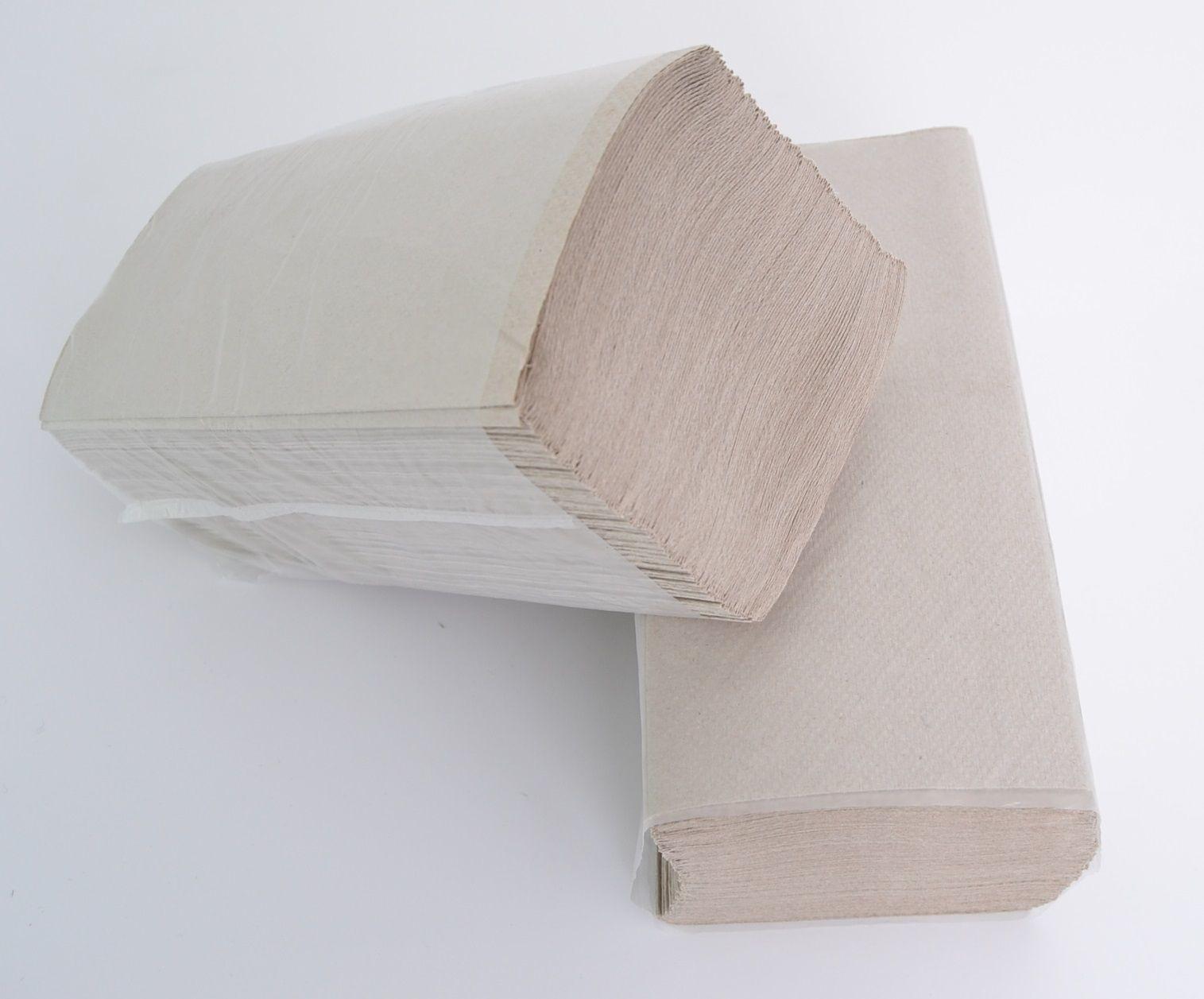 Papieren Handdoekjes Naturel grijs 1-laags Zig Zag gevouwen 25x23cm 4600st