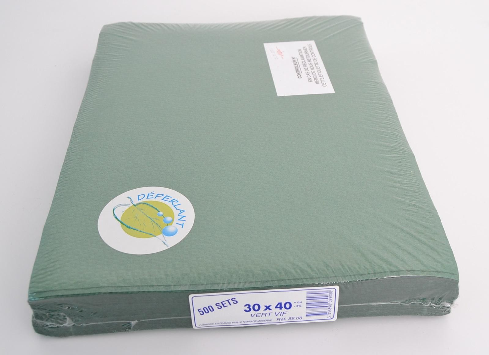 Placemats donkergroen 30x40cm 500st ref89.08