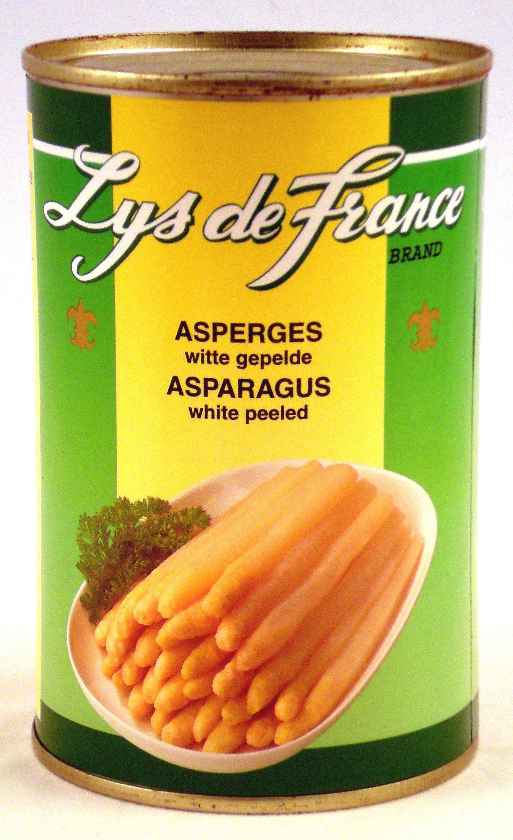 Witte asperges gepeld 1L Lys de France