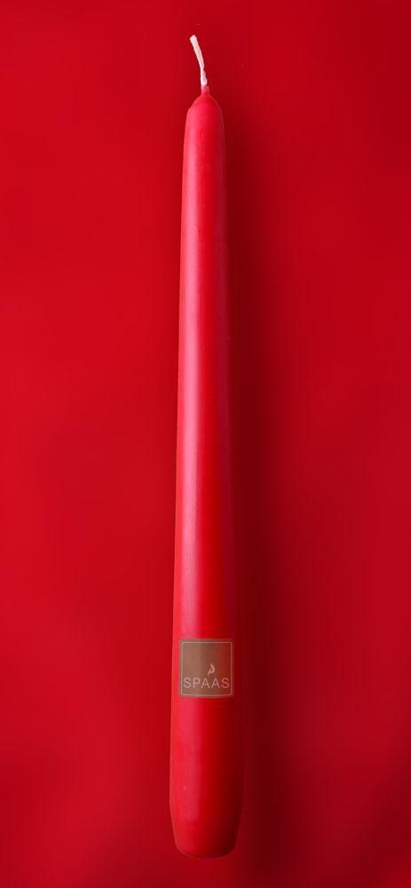 Kaarsen Spaas helderrood 25cm 100st Festilux
