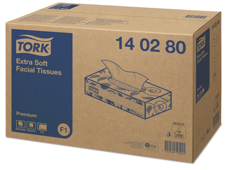 Tork zakdoek papier facial tissue 36x100st 140270