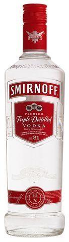 Vodka smirnoff red nº21 1l 37.5% triple distilled