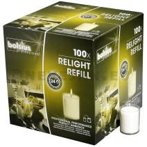 Bolsius Relight kaarsen navullingen transparant 100st
