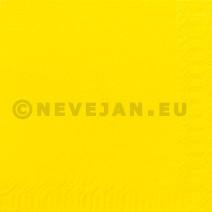 Servet geel 2laags 33x33cm 125st