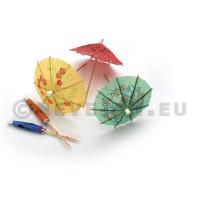 Parasol op prikker diverse kleuren 8cm 150st