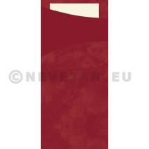 Duni Sacchetto bordeaux 200x85 papier+servet Champagne 100st
