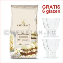 Callebaut poedermix witte chocolademousse 800gr (Chocolade)