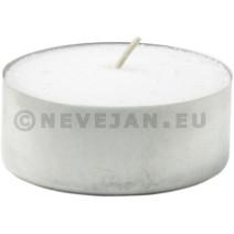 Kaarsen Theelichtjes met huls wit BIG 60mm 8u 20st