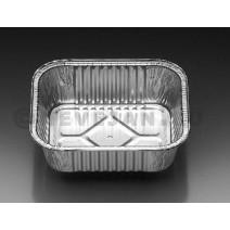 Aluminium bakje rechthoekig 149x122x45mm 1000st 545ml